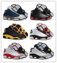 Wholesale Women Shoes 41 - New 2018 men women Basketball Shoes 13 XIII Black Cat Hyper Royal Olive DMP Chicago Bred He Got Game Barons Sneakers Size 41-47