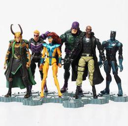 Wholesale Loki Figure - The 2 Age of Ultron PVC Action Figure Toys Superheroes Black Widow Loki Hawkeye Nick Fury Phoenix Figure Toy 6Pcs set
