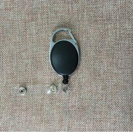 einziehbare id schlüsselanhänger Rabatt Retractable Pull Key Ring Kettenrolle ID Lanyard Namenskarte Badge Holder Namensschild Karte Gürtelclip Schlüsselanhänger Halter Clips KKA4313