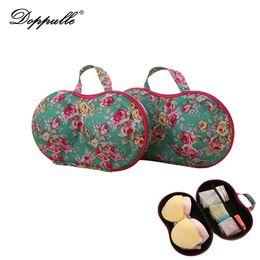 Wholesale Bras Travel Box - Travel cosmetic bag anti-pressure underwear pouch bra bag covered bra finishing box panties socks portable mobile Cosmetic Bags