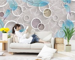 Wholesale Photo Print Paper Sizes - 3D Abstract Circle Photo HD Mural Wallpapers for Bedroom Living Room Decorative Modern Wall Paper 3 D Wall MuralsCustom Any Size