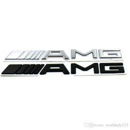 amg adesivos Desconto Novo 3D ABS Etiqueta Do Carro Para Mercedes AMG CLA GLA W212 W211 W210 W202 Emblema Emblema Emblema Preto Para AMG Etiqueta Tronco Do Carro adesivos