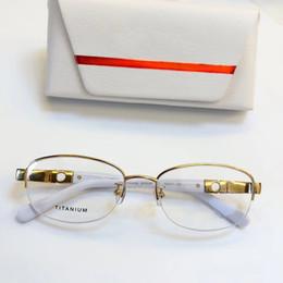 e71730b2683 luxury brand glasses Prescription 2533 rimless gold frame leopard animal  logo optical for men design clear glass ultralight france designer