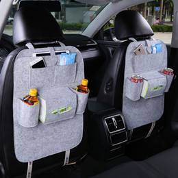 Wholesale fabric car seats - Auto Car Back Seat Storage Organizer Trash Net Holder Multi-Pocket Travel Storage Bag Hanger for Auto Capacity Storage Pouch 1PC