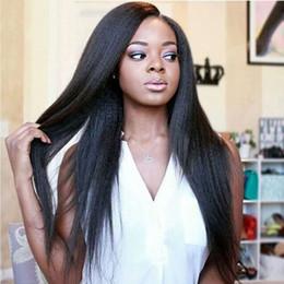 Canada BHF Indian Kinky Straigt Bundles de cheveux avec fermeture Extensions non traitées de cheveux humains 8-28 Yaki droites Bundles de cheveux avec fermeture Offre