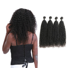 Wholesale Indian Jerry Curl Hair Extension - Grade 9A Indian Curly Human Hair Weaving Double Wefts Extensions Jerry Curl Total 400G 100G Bundle On Sale