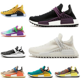 pretty nice 82ae6 66b61 Adidas NMD Human Race Pista de carrera humana Zapatos corrientes Hombres  Mujeres Pharrell Williams HU Runner Negro Tiza de lona Coral Core  zapatillas negras ...