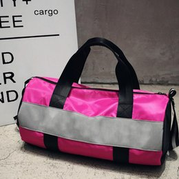 Wholesale Leather Travel Bags For Women - Sport Bags For Women Luxury Handbags Pink Letter Large Capacity Travel Duffle Striped Waterproof Beach Bagon Shoulder for Outdoor Business