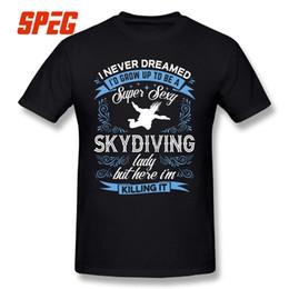 2018 modische herrenhemden Super Sexy Skydiving Lady Kurzarm-Neuheit  T-Shirts Reiner Baumwolle Herren c4783f3069