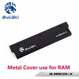 Wholesale Computer Water Cooling System - BYKSKI Full Metal Radiator Cover use for RAM Radiator Color Black Cover for Liquid Cooling System Heat Dissipation 1pcs