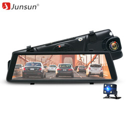 Wholesale Rearview Mirror Gps Android - Junsun A900 Car DVR Camera 3G Android 5.0 Video Recorder Dual Lens FHD 1080P GPS Navigation Dashcam Car Rearview Mirror DVRS