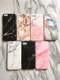 Wholesale cell phone cases retail - 30pcs Retail Marble Pattern TPU Case Fashion Case for iPhone X 7 6 IMD Case Cell Phone Protector for iPhone 7 6 Plus