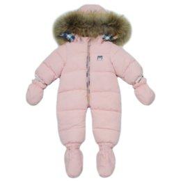 2019 macacão rosa de inverno Macacão de inverno para bebê rosa com capuz macacão rosa de inverno barato