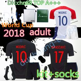 336ed798c1b Discount national team kits - 2018 MODRIC MANDZUKIC adult kit+socks soccer  jerseys World Cup