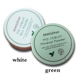 Wholesale wholesale mineral pressed powder - Hot sale Korea Famous Brand Innisfree No Sebum Mineral Powder + Blur Powder Oil Control Loose Powder Makeup Setting Foundation 5g