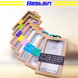 Casse di carta dei casi di telefoni cellulari online-Bestsin Colourful Personality Design Finestra in PVC di lusso Confezionamento Confezione in scatola di carta per custodia per cellulare Accessori confezione regalo