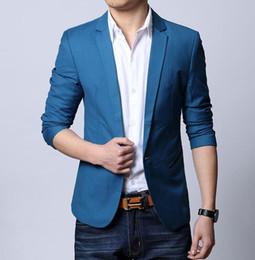 cappotto di vestito di modo delle donne coreane Sconti Primavera e autunno moda casual cappotto uomo casual vestito giovani uomini coreano piccolo vestito britannico giacca moda nero blu M - 3XL