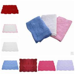 Дышащие детские одеяла онлайн-INS детское одеяло малыш чистый хлопок вышитые одеяла младенческой рябить одеяло Ins детские пеленание дышащий кондиционер одеяла YL150