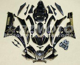 Wholesale Yzf R6 Fairings Black Gold - 100% Injection molding New ABS Fairing set for YAMAHA YZF-R6 600 fairings kit 2006 2007 yzf r6 06 07 black gold