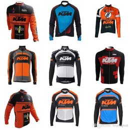 Equipo KTM Ciclismo mangas largas jersey ciclismo jersey camiseta de equitación chaqueta masculina de secado rápido Ropa de verano de manga larga 840721 desde fabricantes