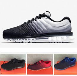 fd916c0b087a 2018 Nike Air Max 2017 sneakers Горячие продажи высокого качества Mesh Knit  Sportswear Мужчины Женщины 2017 Повседневная обувь Дешевые Тренажер на  открытом ...