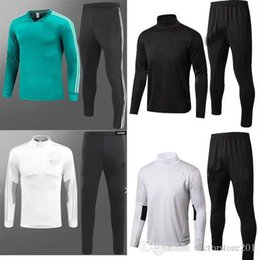 Wholesale Uniform Germany - 2018 GERMANY Jacket Tracksuit SOCCER 17 18 sweater top and Long pant Training suit adult man football tracksuit Uniforms