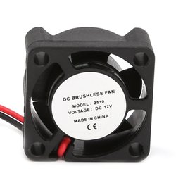 small printers Coupons - DC 12V 25*25*10mm Small 2-Wire Brushless Cooling Fan 2510S For 3D Printer Parts - L059 New hot