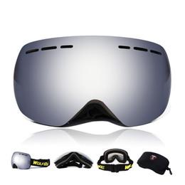 2019 óculos de lobo Wolfbike Esporte Óculos Óculos Óculos de Esqui Anti  Nevoeiro Óculos de Proteção f03980b017