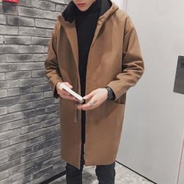 koreanische stil männer s kleidung Rabatt 2017 Winter Neue Männliche Koreanische Stil Worsted Lange Für Männer Wollmischungen Kleidung In Warme Reine Farbe Windjacke Nizza Mantel S-2xl