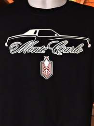 logos engraçados do carro Desconto 1973 1974 1975 1976 1977 Chevy Monte Carlo Carro SILHUETA T-Shirt Logotipo Emblema Engraçado frete grátis Unisex Casual tee top