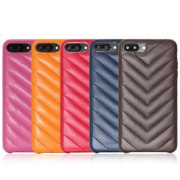 Capas de telefone antiderrapantes on-line-Venda quente caixa do telefone celular ultra fino tampa traseira Anti-slip-resistente ao desgaste listrado PU leather case para iphone X 6 7 8 plus
