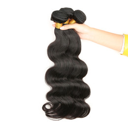 Wholesale Human Hair Weave Malaysia - Human Hair Weaves Brazilian Hair Bundles Extensions Body Wave Hair Weaves Weft Cheap Malaysia Peruvian Indian Double Weft 3PC lot