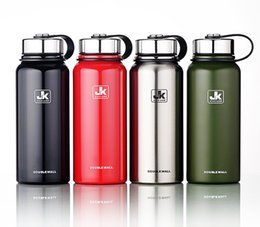 Wholesale green eco logos - outdoor Stainless Steel vacuum heat preservation Water Bottles Business Cups 1500ml Large Capacity Tumblerful Mugs can customize logo 2018