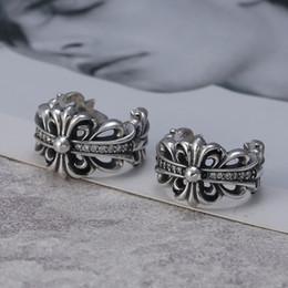 Canada Marque nouvelle 925 bijoux en argent sterling vintage style américain fait main designer mens bagues croix avec CZ beaux cadeaux livraison gratuite Offre