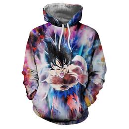 Wholesale Trend Hoodie - Men Anime Hoodies Fashion New Trend Seven Dragon Ball Z Son Goku 3D Print Sweatshirt Long Sleeve Pullover Women Streetwear Jacket DW116