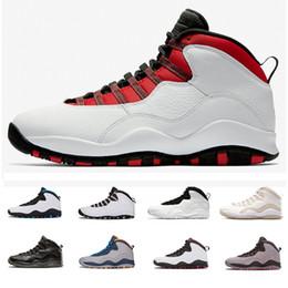 new arrival 2ac1a 5bf30 Nike Air Jordan Retro 10 2018 Mens 10S X Basketball Schuhe XIV Im zurück  kühlen grauen Powder Blue für Männer Marke Designer Sportschuhe US8-13