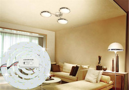 Wholesale Ceiling Boards - sale SMD 5730 led 5W 12W 15W 18W 23W Ring PANEL Circle Light AC85-265V LED Round Ceiling board circular lamp board Kitchen Bedroom