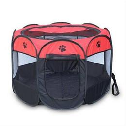 Бесплатная доставка Pet складной клетке 600D портативный Оксфорд собака Манеж Pet забор питомник щенок котенок спальный дом на открытом воздухе упражнения Pet палатка от