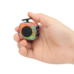 Wholesale mazes kids - NEW 8Colors Fidget Cube Decompression Die Dice Colouring Demoniac Maze Frosted Silica Gel Magic Cube Wholesale