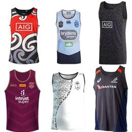 Chalecos singletes online-Cowboys Wests Tigers Brisbane Broncos Maroons New Zealand rugby Jerseys Singlet jersey NRL National League camiseta con capucha nrl jersey Singlet shi