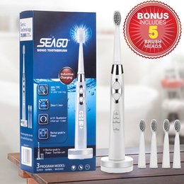 sg electric Coupons - Hot selling Electric Toothbrush USB Charge Sonic Tooth brush Electric Waterproof Deep Clean with 5 Brush Heads sg-917 C18111501