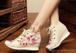 оптовик бесплатная доставка горячий продавец завод цена круглый нос Китай стиль клин пятки женщин девушка студент обувь повседневная обувь 182 от