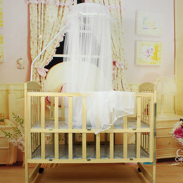 Wholesale White Princess Bedding - 3 Colors 1 PC baby bed mosquito net Cute Baby Princess Canopy Crib Netting Dome Bed Mosquito Net for Nursery T30