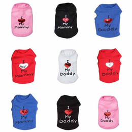 Wholesale Sequin Vests Black - Colorful Sequins Love Heart Dog Vest L Love Daddy Mommy Letters Design Breathable Clothes Fashion Small Pets Apparel 9 5cy5 Z