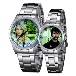 Wholesale Picture Friend - Custom Made Quartz Watch Lover's Watches Photo Printed Dial Picture Print Wristwatch Customized Clock Unique DIY Gift For Friend