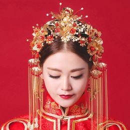 Argentina Traje de novia, sombreros, espectáculo de la corona de Phoenix, kimono y kimono, accesorios de peines de estilo chino, vestidos de novia y accesorios (1) Suministro