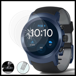 Wholesale screen for lg l9 - 2.5D Tempered Glass Protectors for LG watch Sport Screen Protectors for Watch Style for G Watch w100 9H