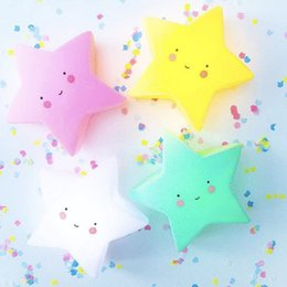 Wholesale Babies Night Lights - Lovely Star LED Night Light Smile Face Baby Feeding Toy For Baby Bedroom Decoration Nursery Lamp Creative Cartoon Festival Gift
