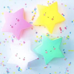 Wholesale nursery toys - Lovely Star LED Night Light Smile Face Baby Feeding Toy For Baby Bedroom Decoration Nursery Lamp Creative Cartoon Festival Gift