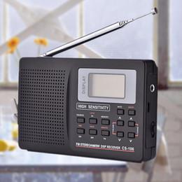 receptor de rádio digital de banda mundial Desconto 1 pc Tipo 2 Mundo Portátil Full Radio Band Pro FM Full / SW / MW / LW Receptor de Rádio Com Função Digital